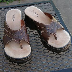 MIA heeled flip flops